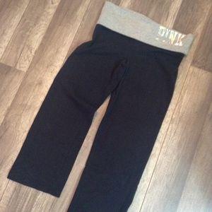VS PINK Yoga Capri Foldover Flare Leggings